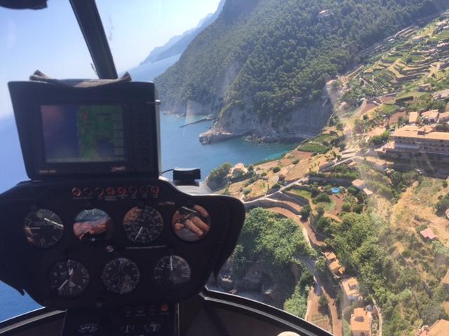Mallorca Heiratsantrag Helikopterrundflug